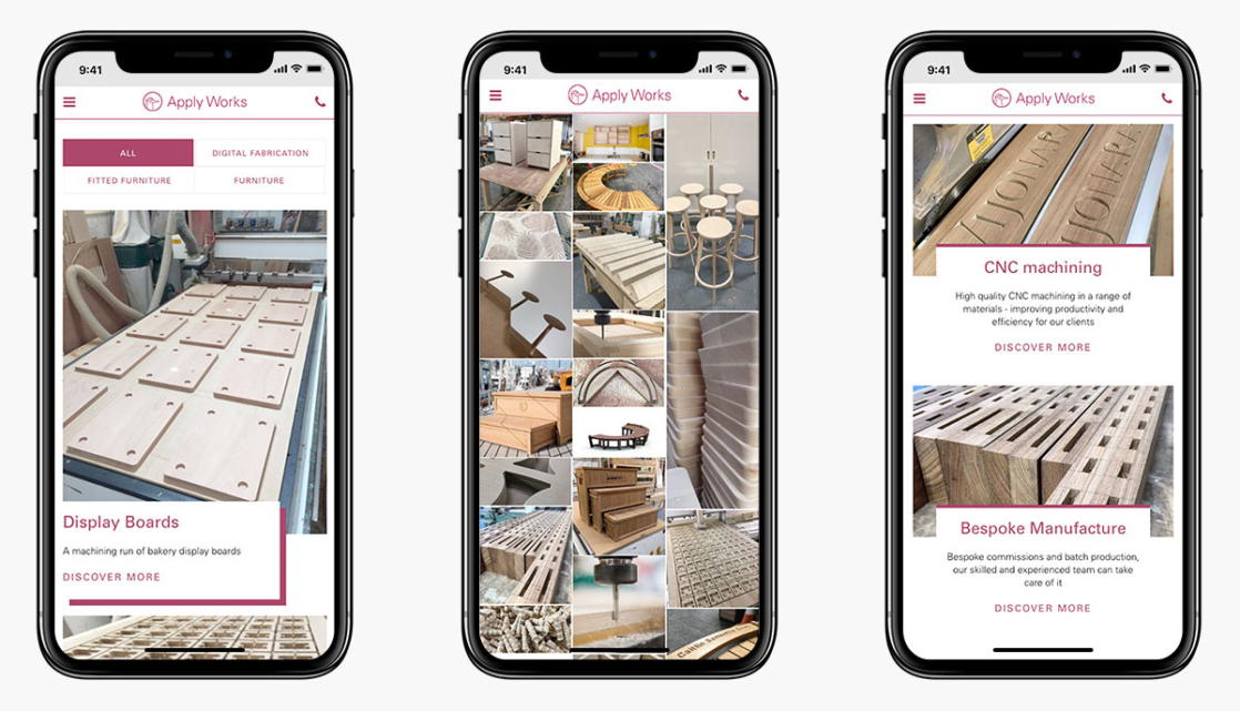 Apply Works Wordpress Website Design on Mobile Devices