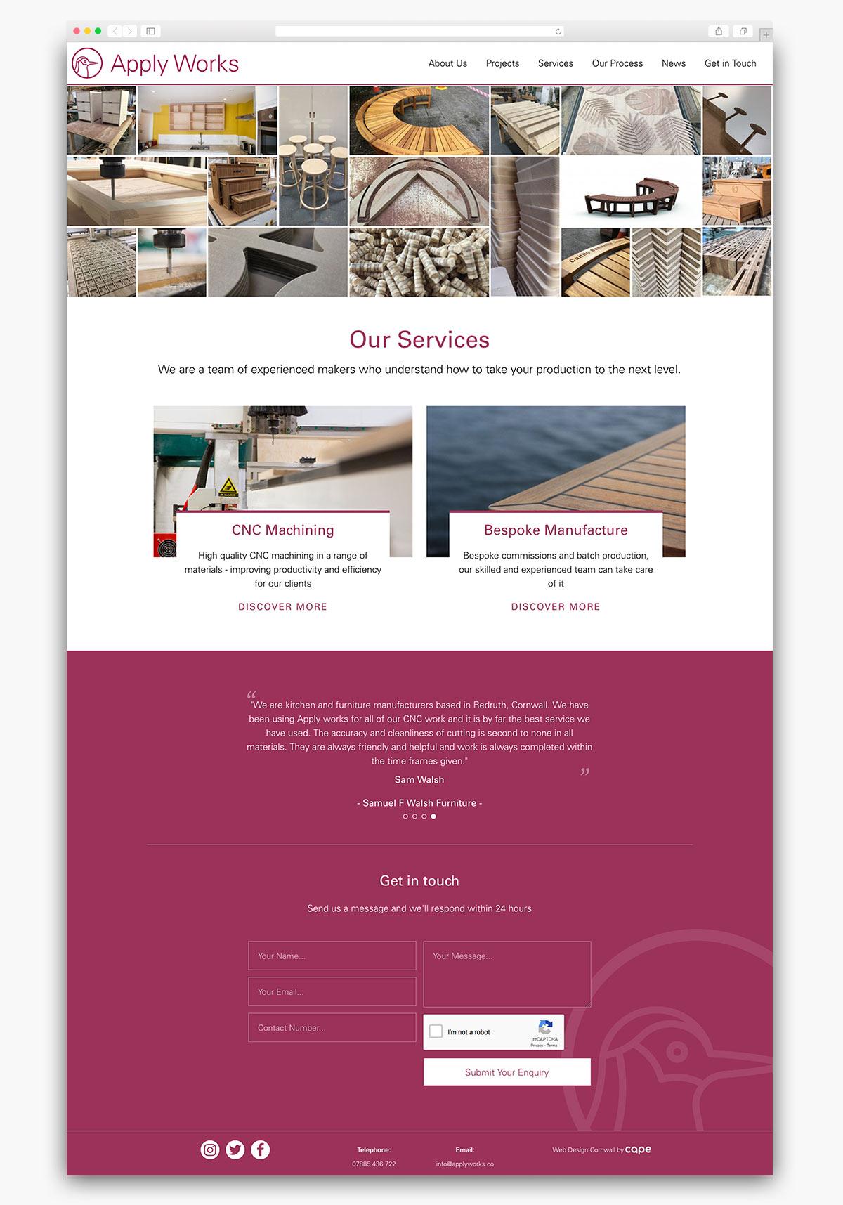 Apply Works Wordpress Website Homepage Design