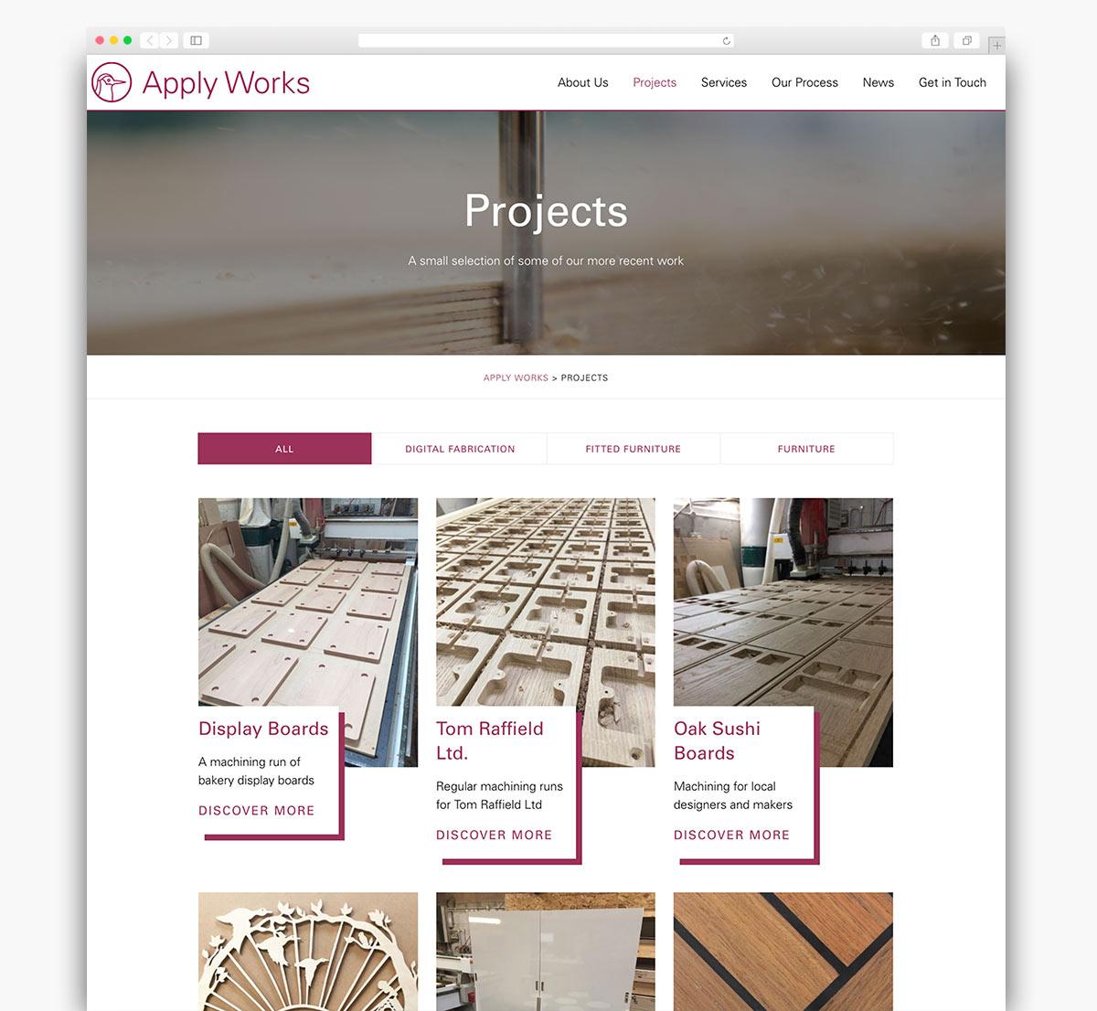 Apply Works Wordpress Page Design