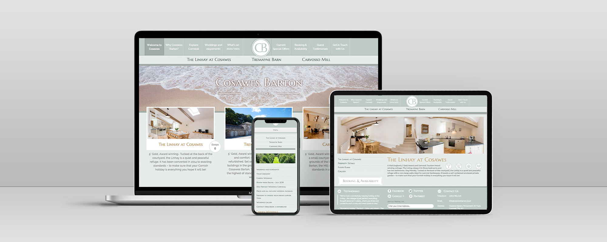 Cosawes Barton Wordpress Website Design on 3 Devices