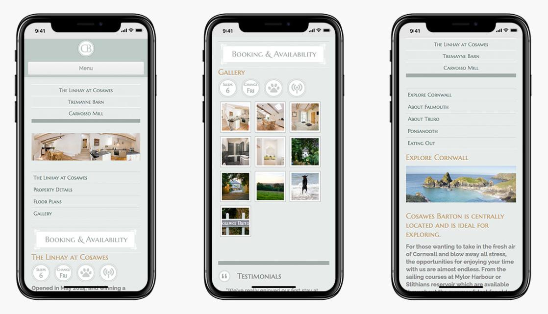 Cosawes Barton Wordpress Website Design on Mobile Vevies