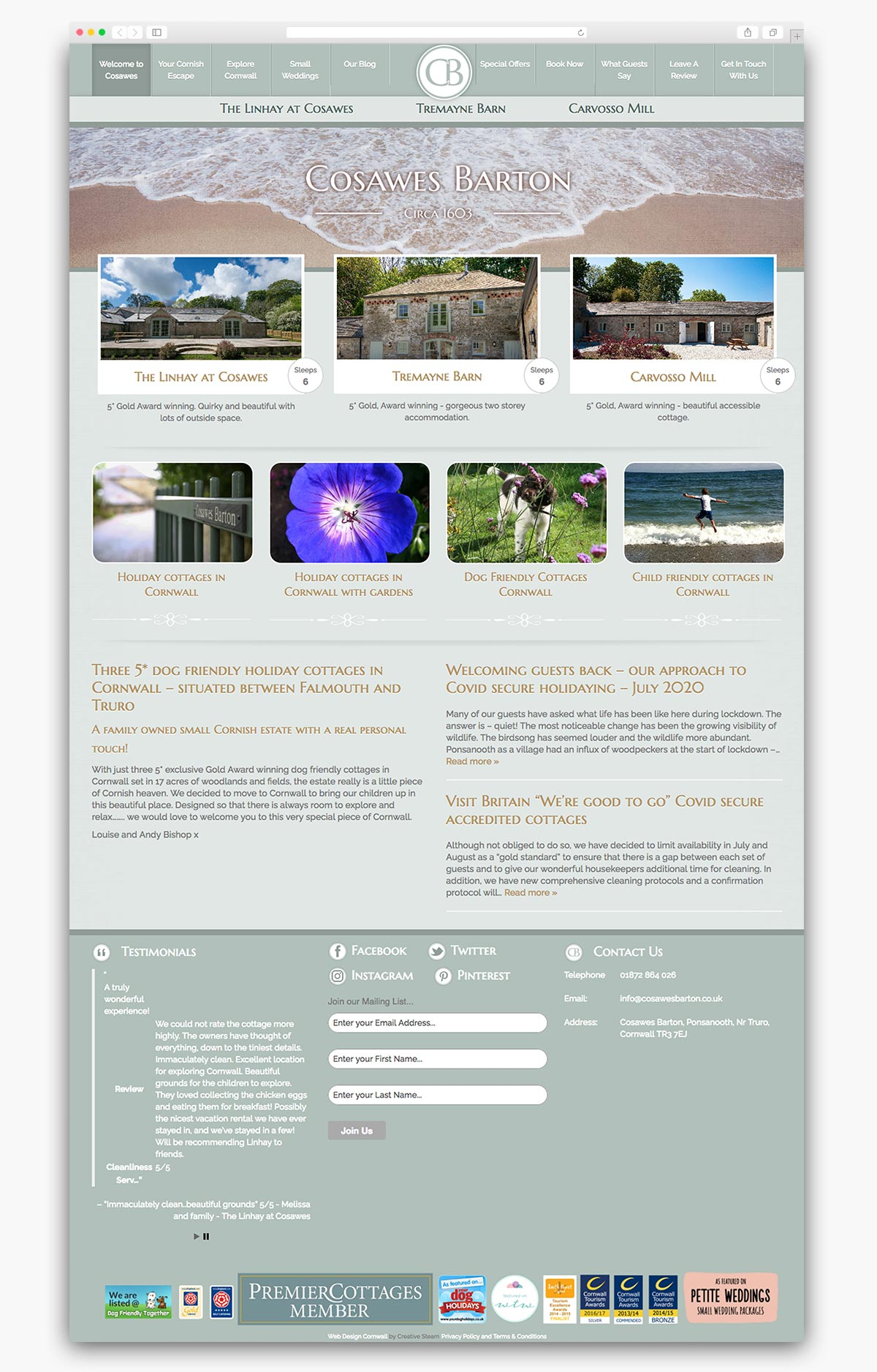 Cosawes Barton Wordpress Website Homepage Design