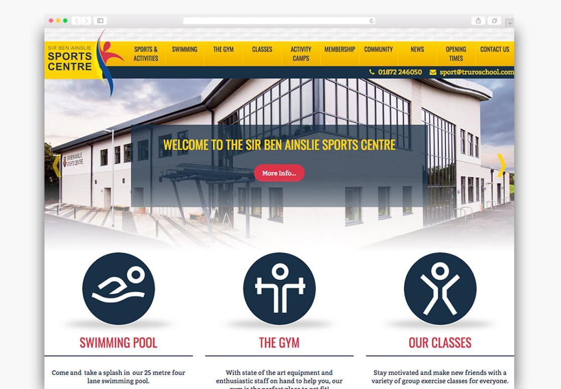 Sir Ben Ainslie Sports Centre Wordpress Website Homepage Design