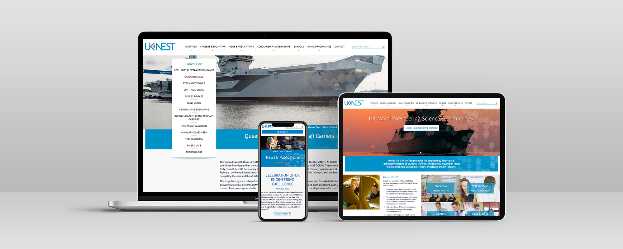 UK Nest Wordpress Website Design on 3 Devices