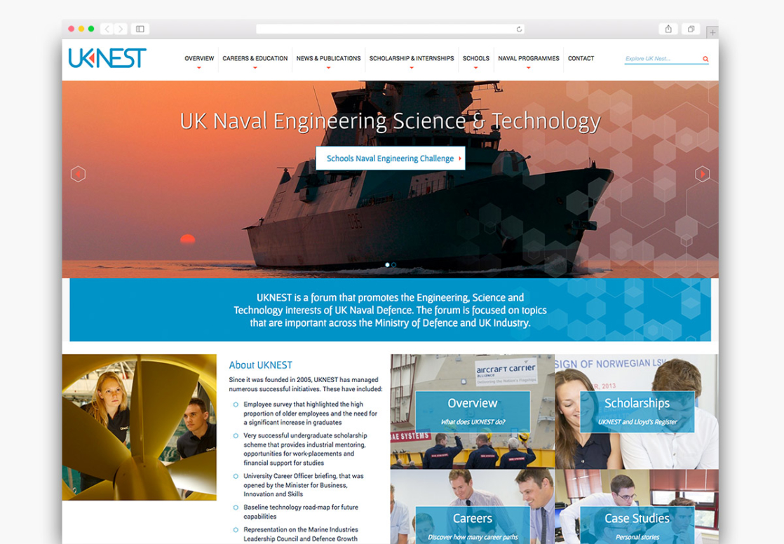 UK Nest Wordpress Homepage Website Design