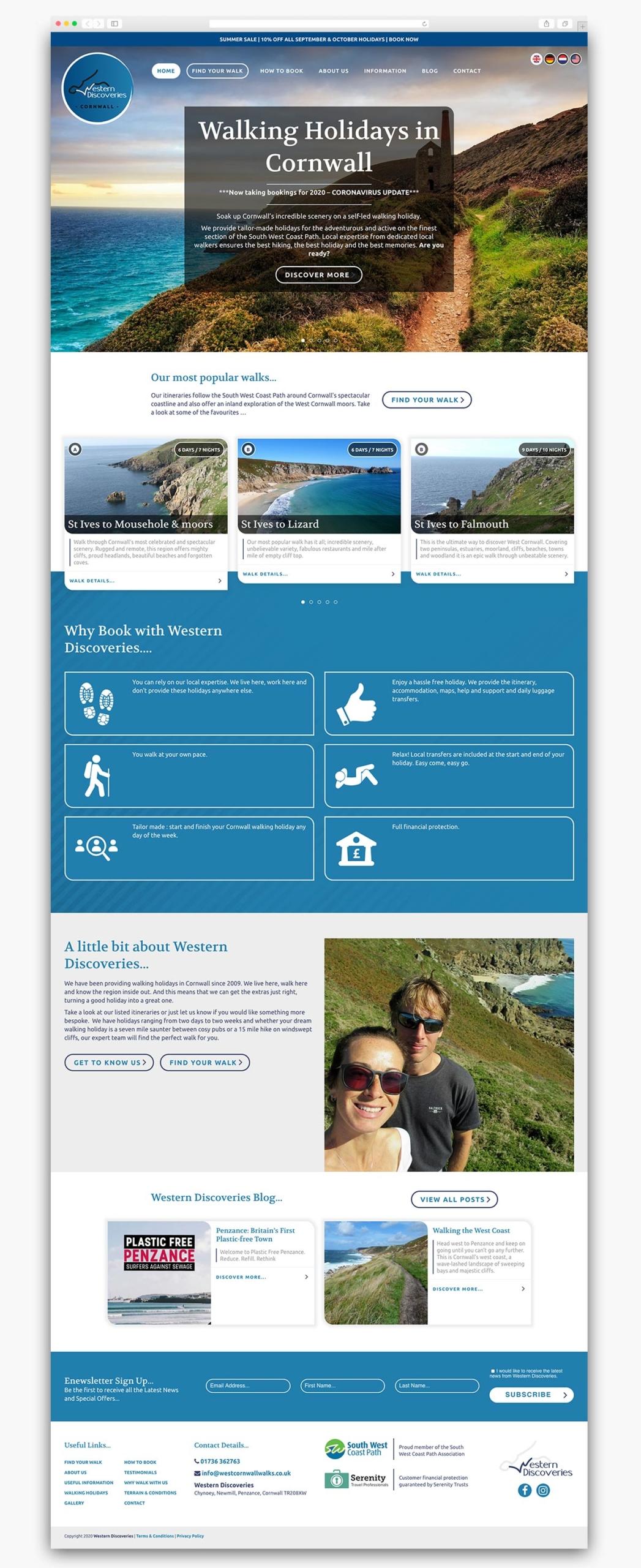 Western Discoveries Wordpress Website Homepage Design