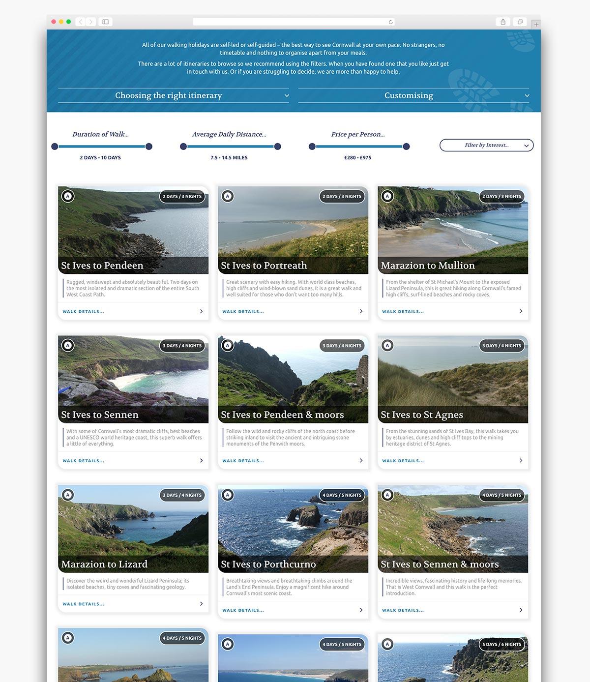 Western Discoveries Wordpress Website Page Design