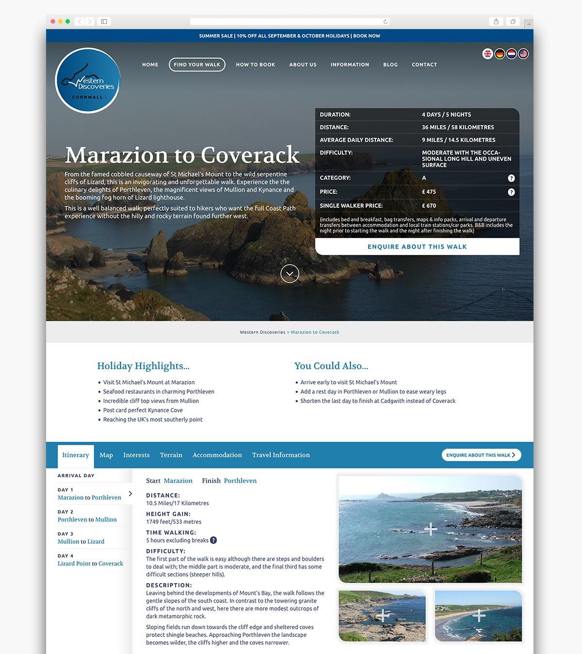 Western Discoveries Wordpress Website Webpage Design