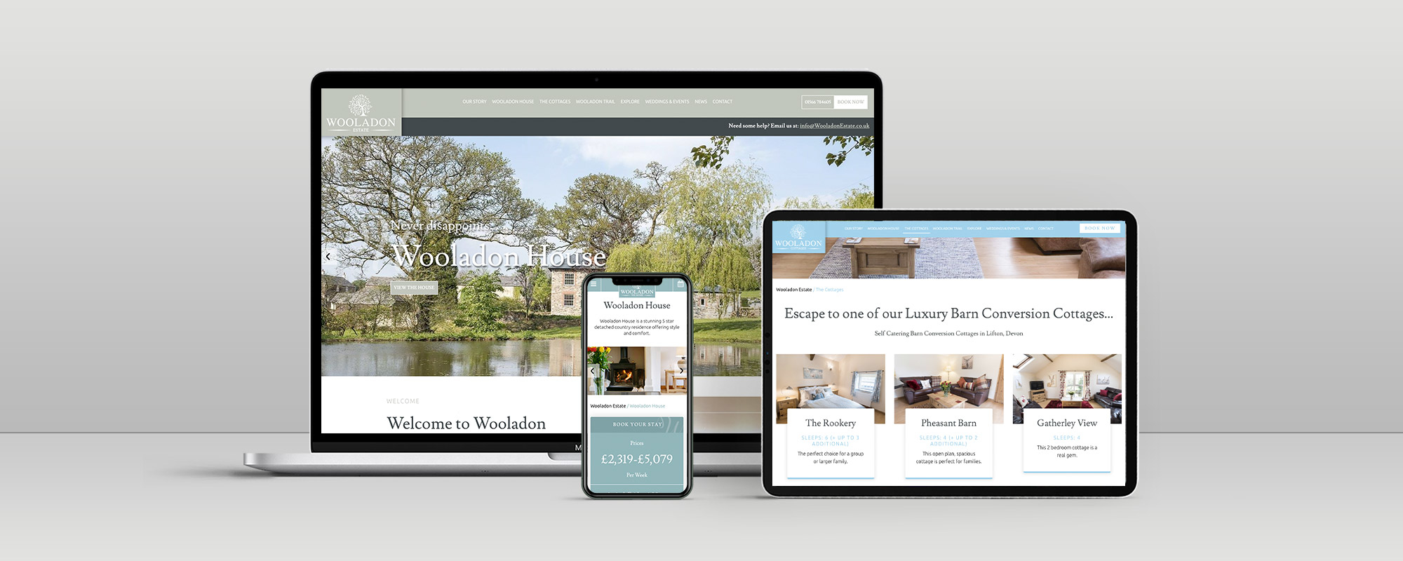 Wooladon Estate Wordpress Website Design on 3 Devices