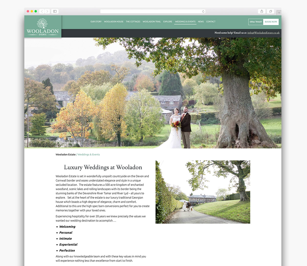 Wooladon Estate Wordpress Page Design