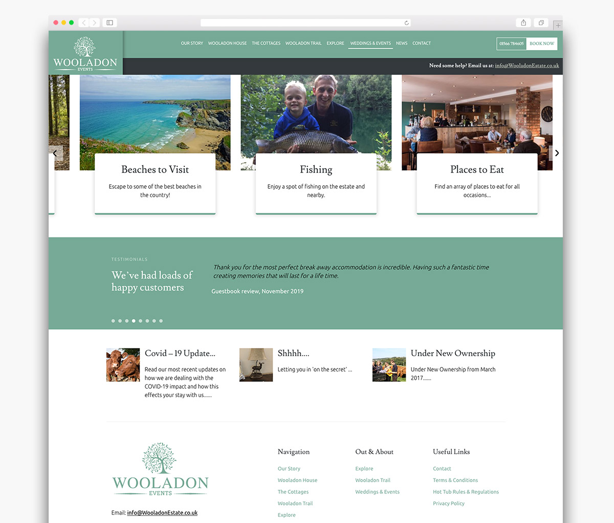 Wooladon Estate Wordpress Website Page Design