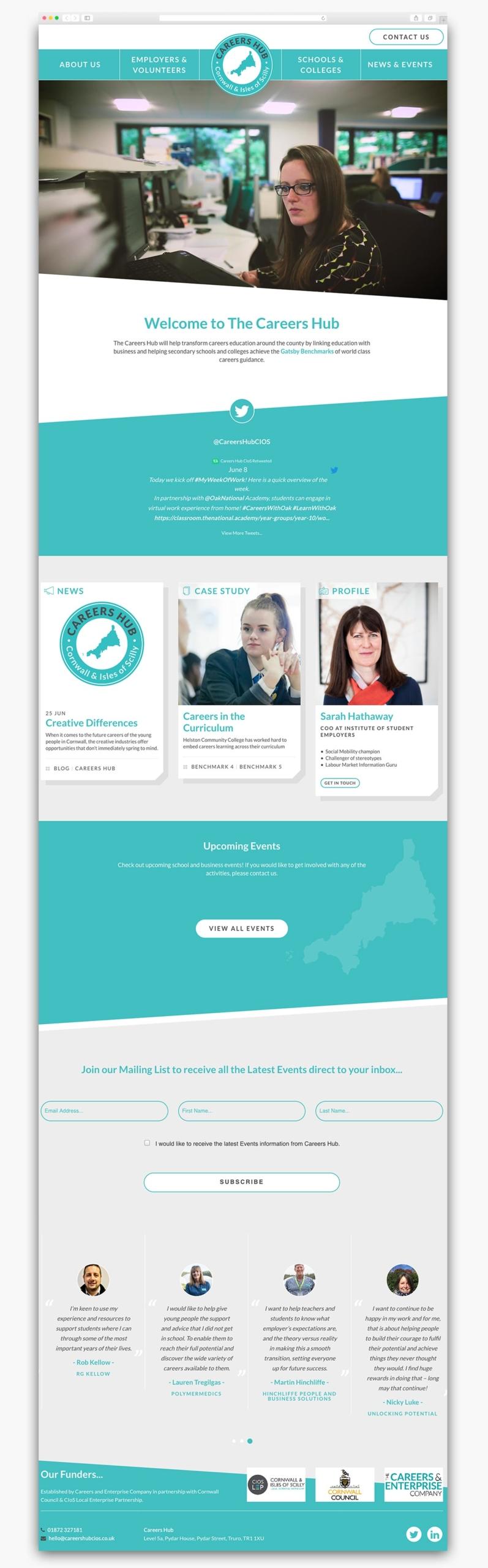 Careers Hub Wordpress Website Homepage Design