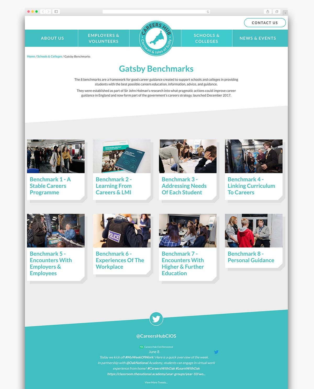 Careers Hub Wordpress Website Page Design