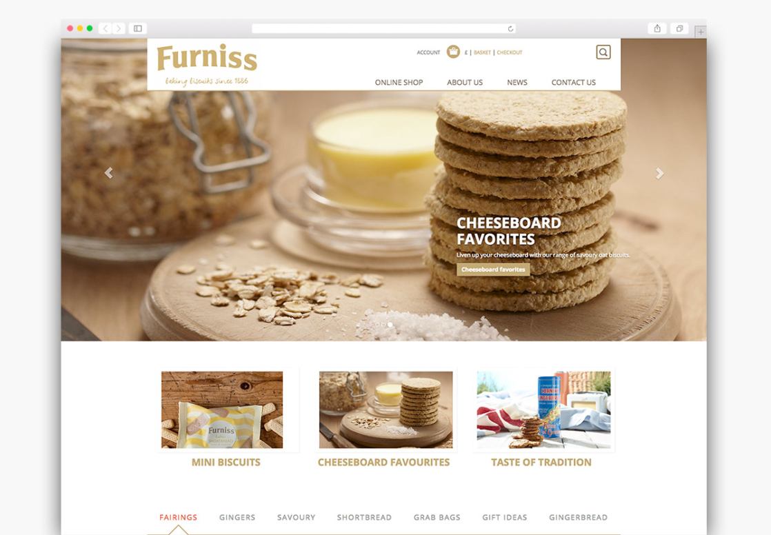 Furniss Foods Magento Ecommerce Homepage Design