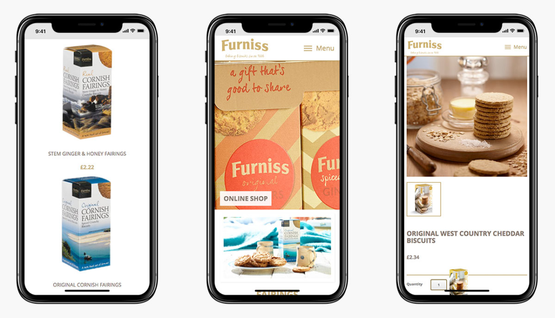 Furniss Foods Magento Ecommerce Website Design on Mobile Devices