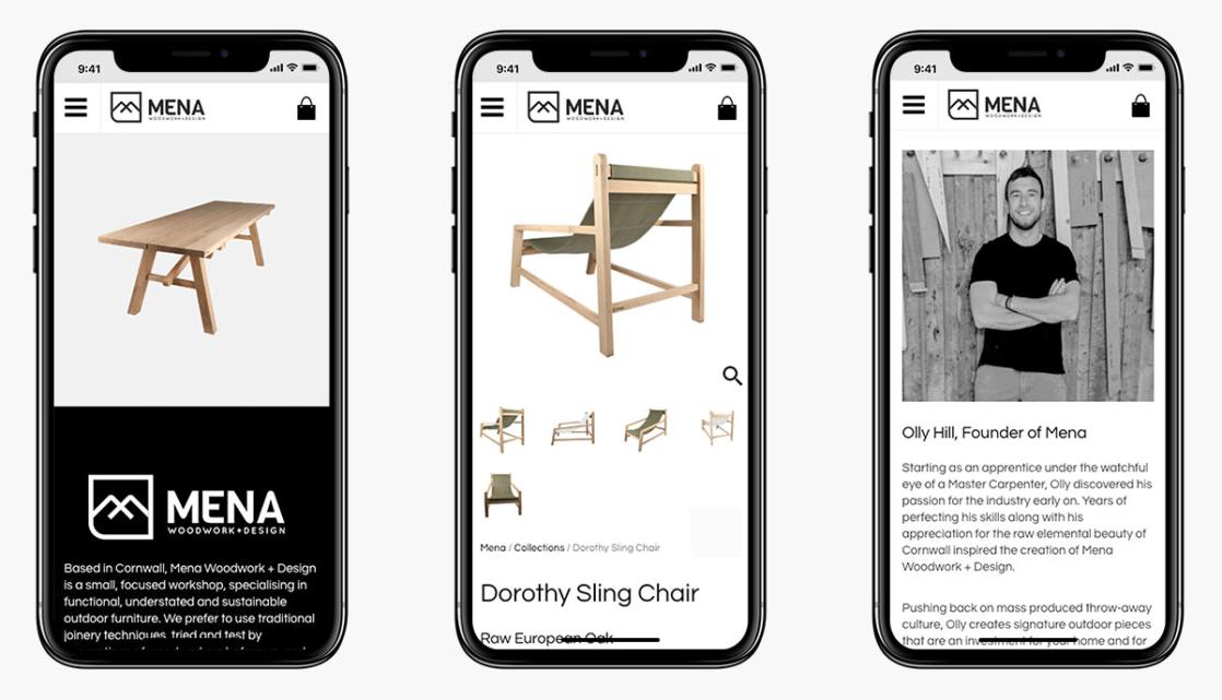 Mena Woodwork Wordpress Website Design on Mobile Devices