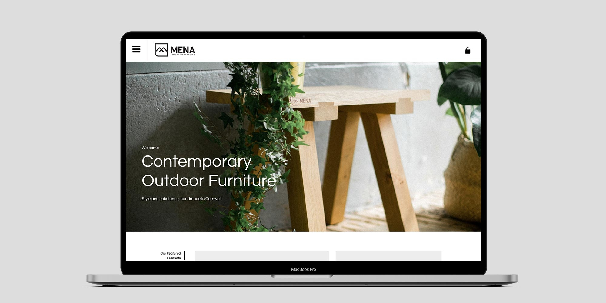 Mena Woodwork Wordpress Website Design on Laptop