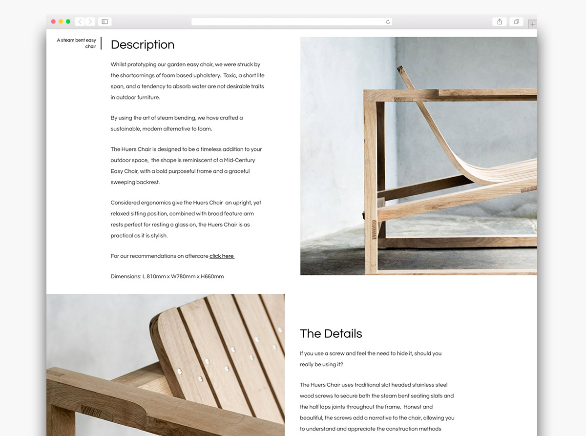 Mena Woodwork Website Design
