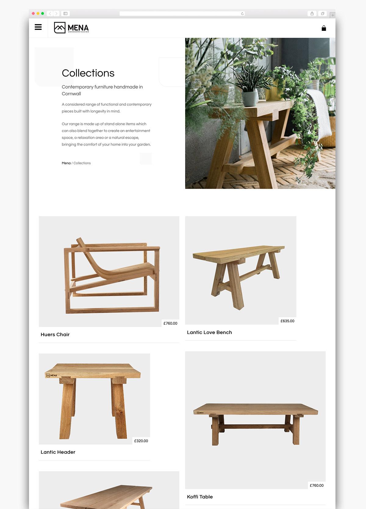 Mena Woodwork Wordpress Website Page Design