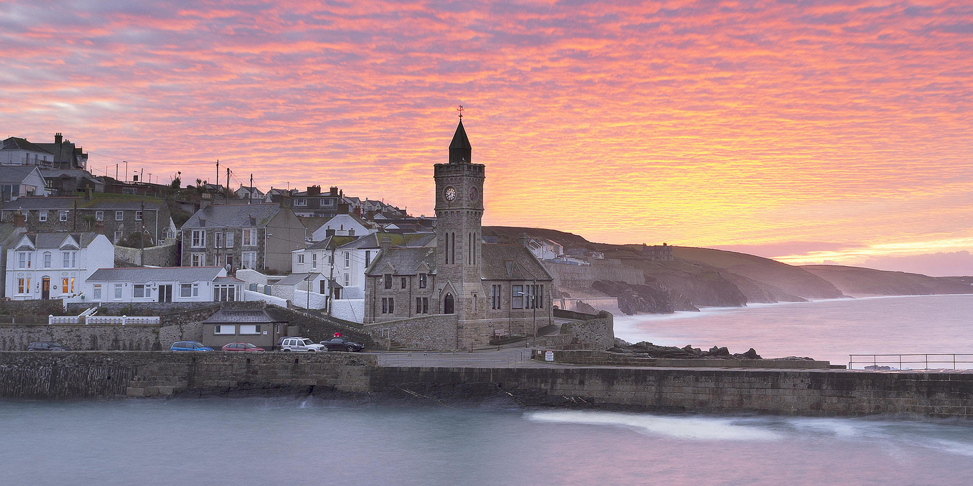 Porthleven Holiday Cottages Website Design Banner