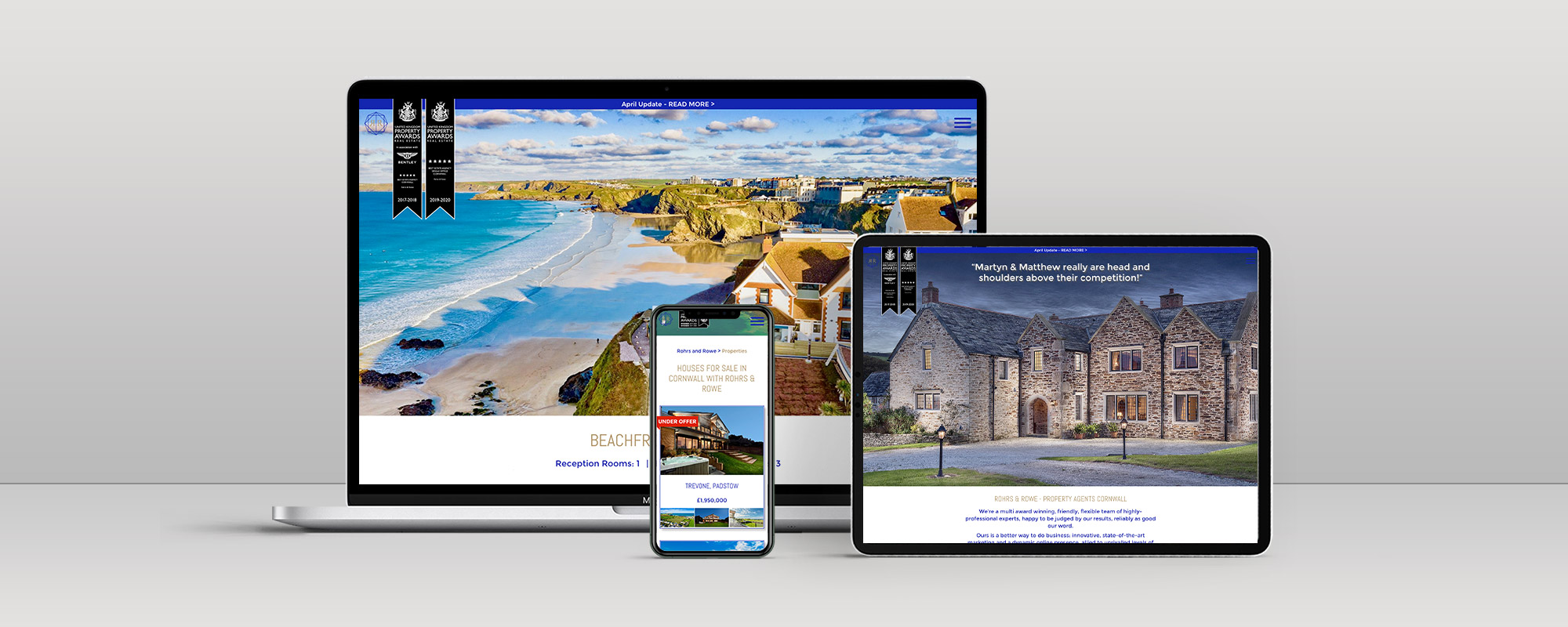Rohrs & Rowe Wordpress Website Design on 3 Devices