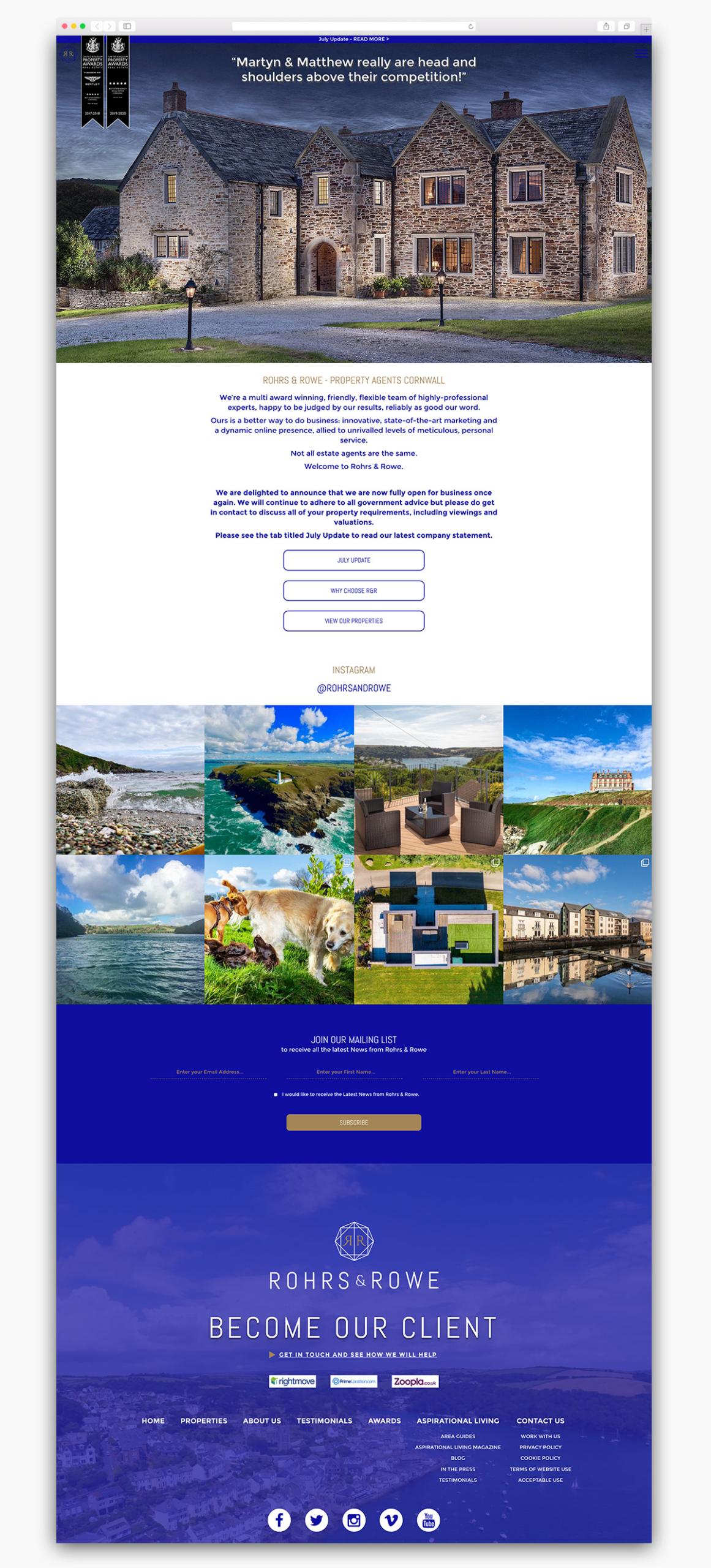 Rohrs & Rowe Wordpress Website Homepage Design