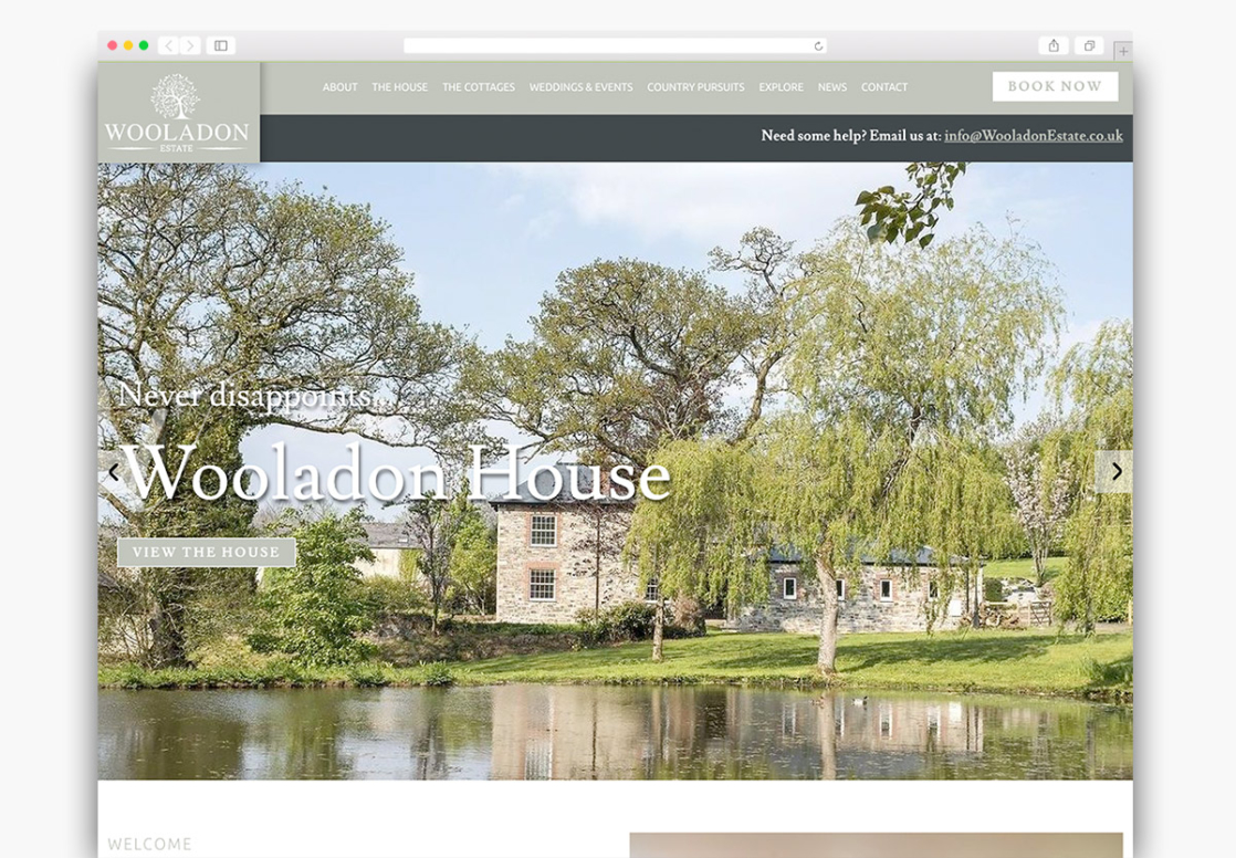 Wooladon Estate Wordpress Website Homepage Design
