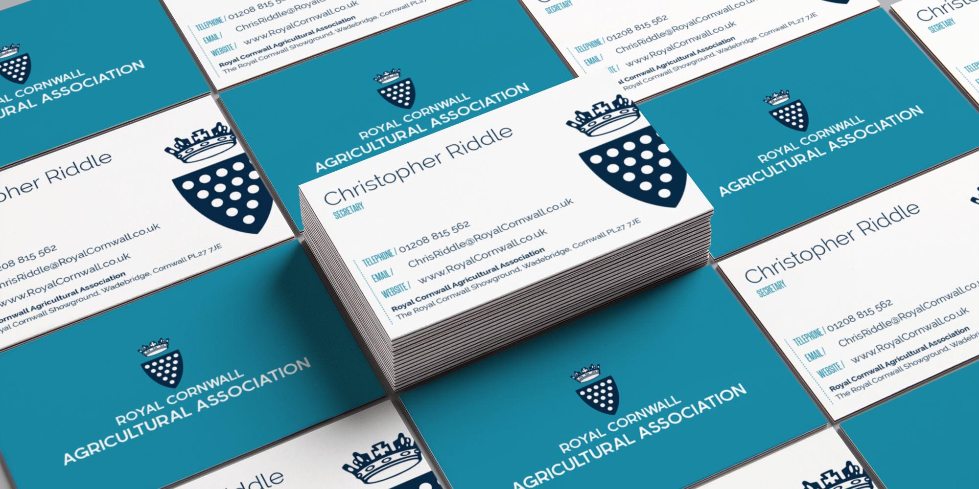 Royal Cornwall Show Business Card Design