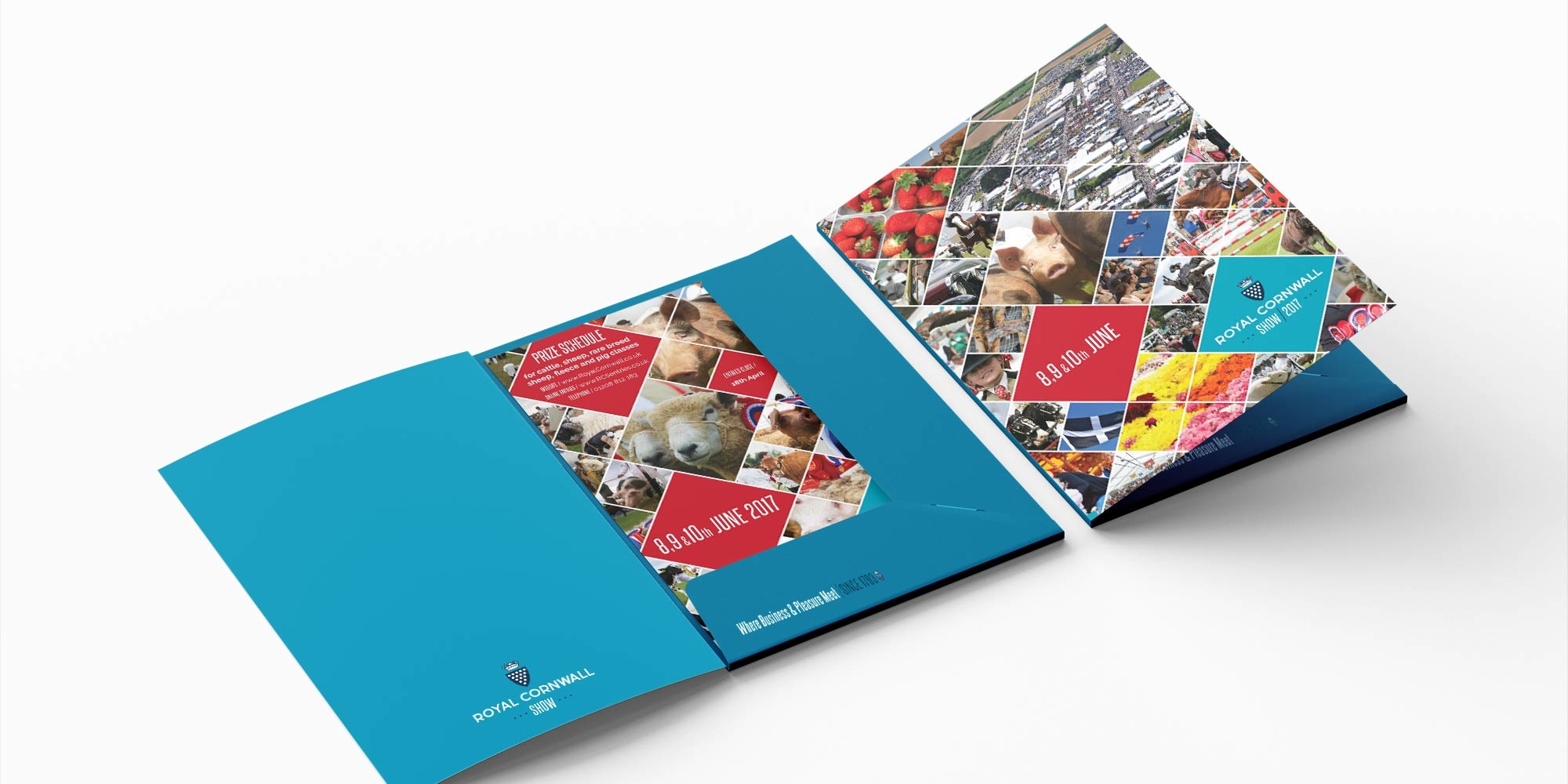 Royal Cornwall Show Folder Design