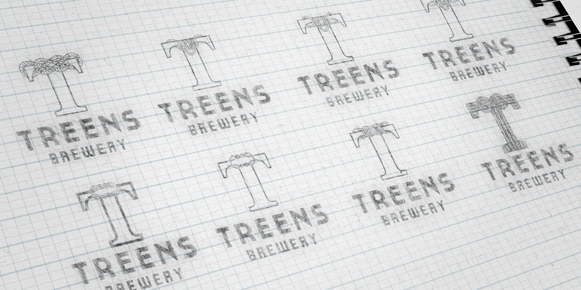 Treen's Brewery Logo Design Sketches