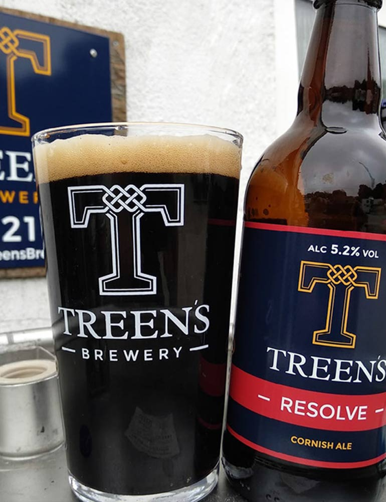 Treen's Brewery Print Design