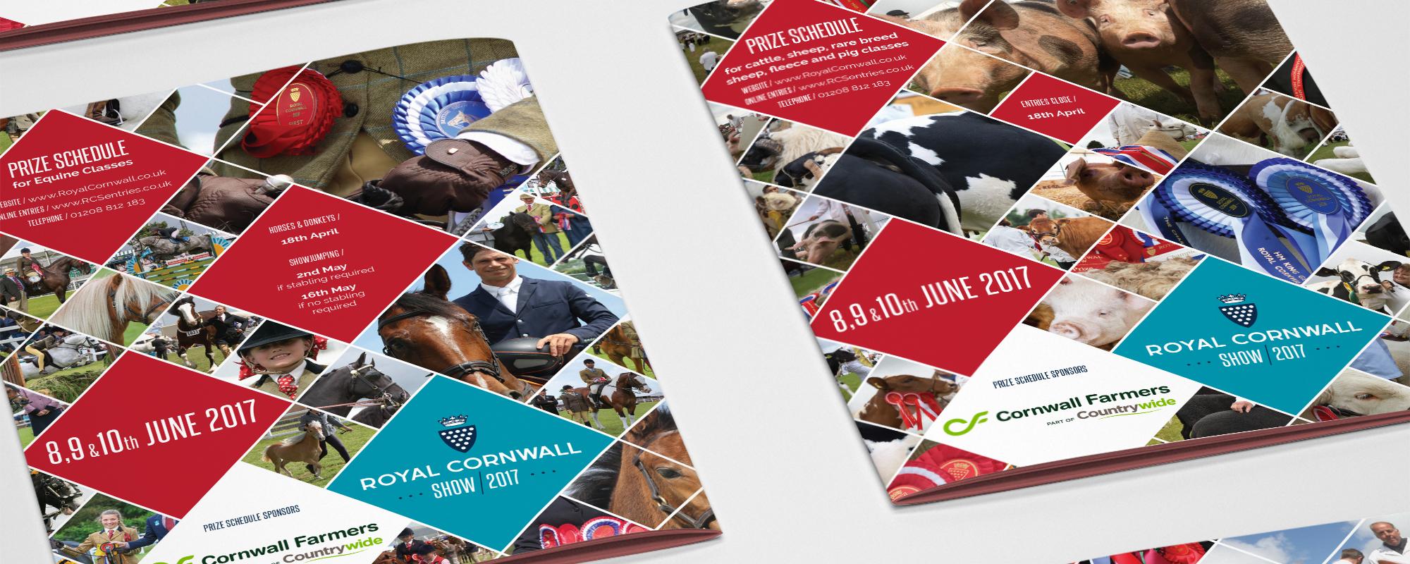 Royal Cornwall Show Leaflet Design