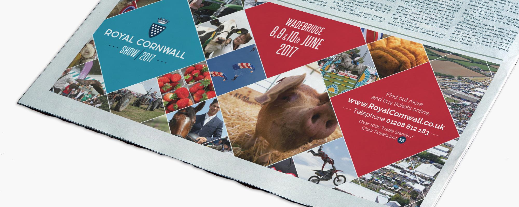 Royal Cornwall Show Advert Design