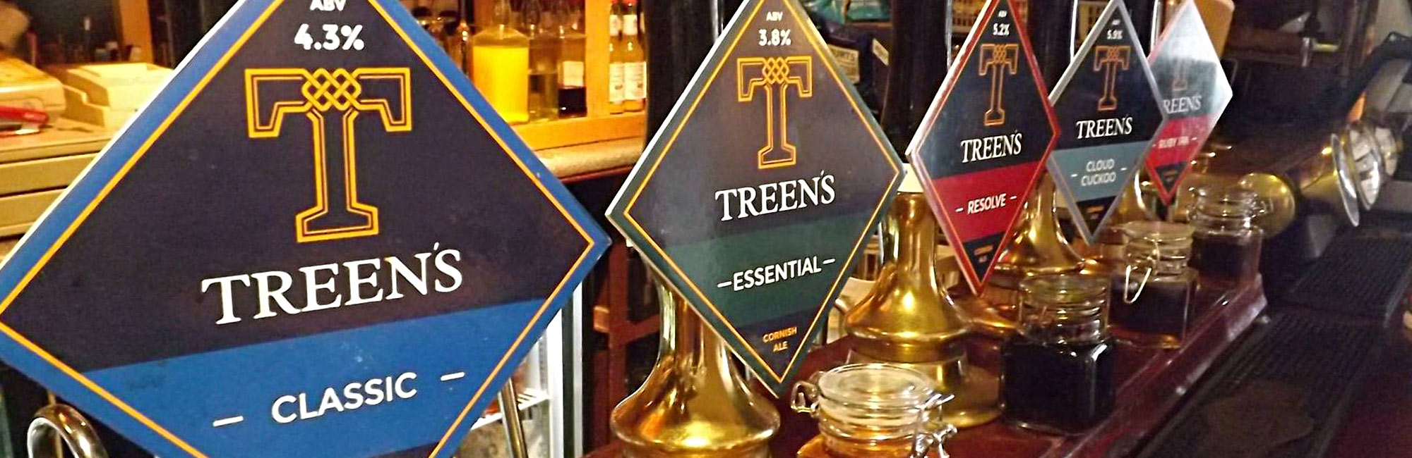 Treen's Brewery Print Design on Pump Clips