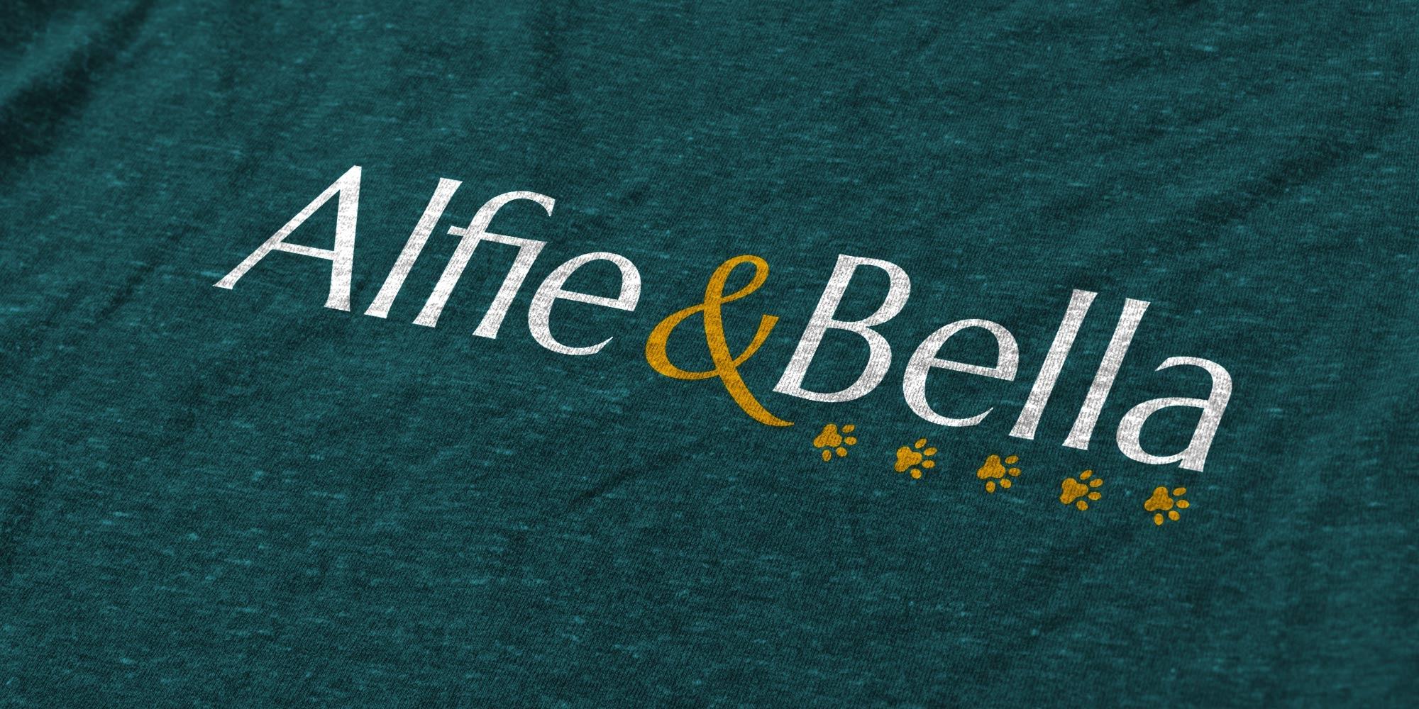 Alfie & Bella Logo Design on Tshirt