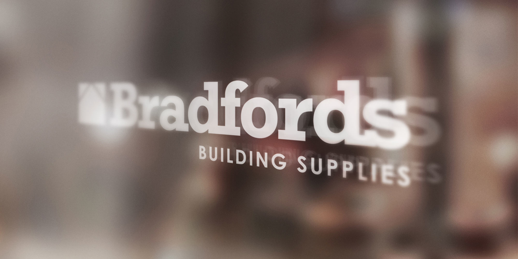 Bradfords Logo Design on Glass