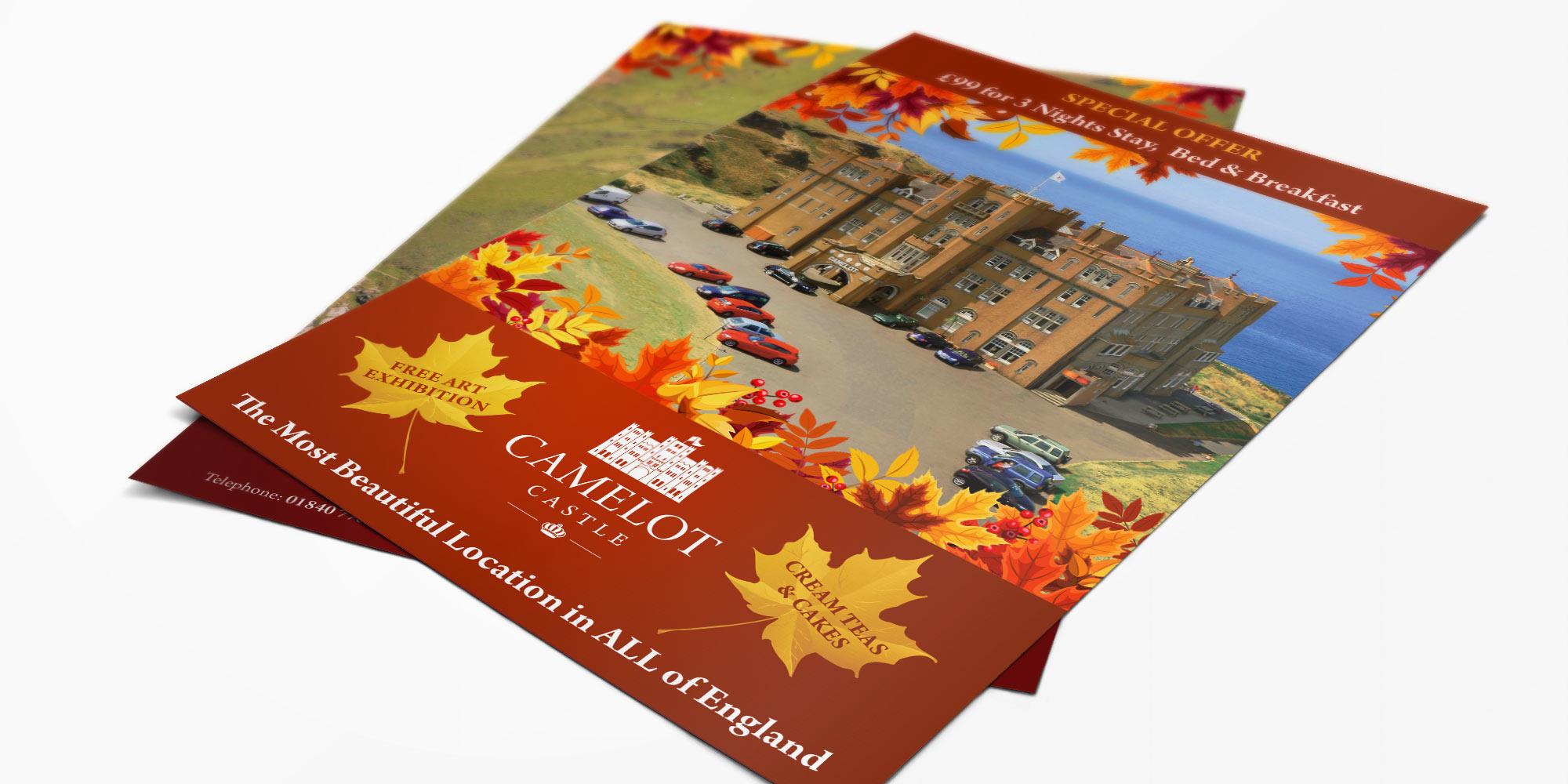 Camelot Castle Flyer Design