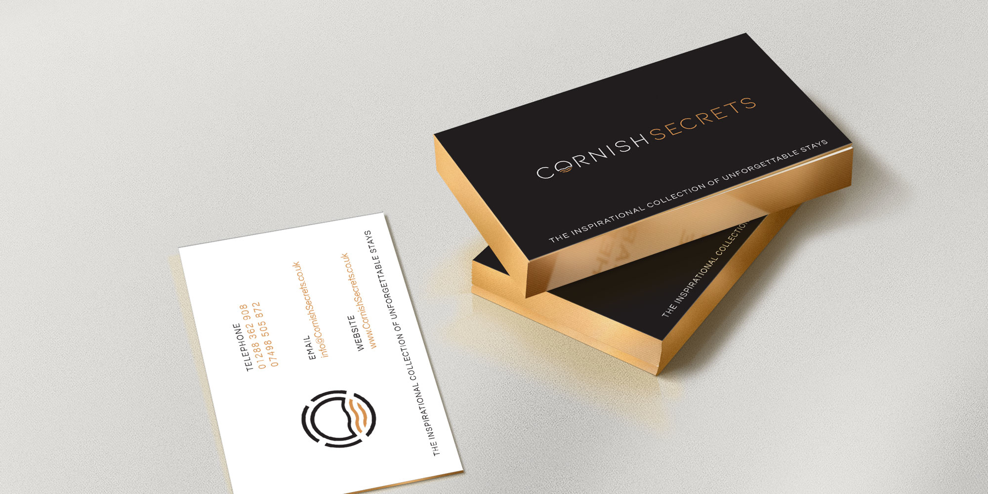 Cornish Secrets Business Card Design