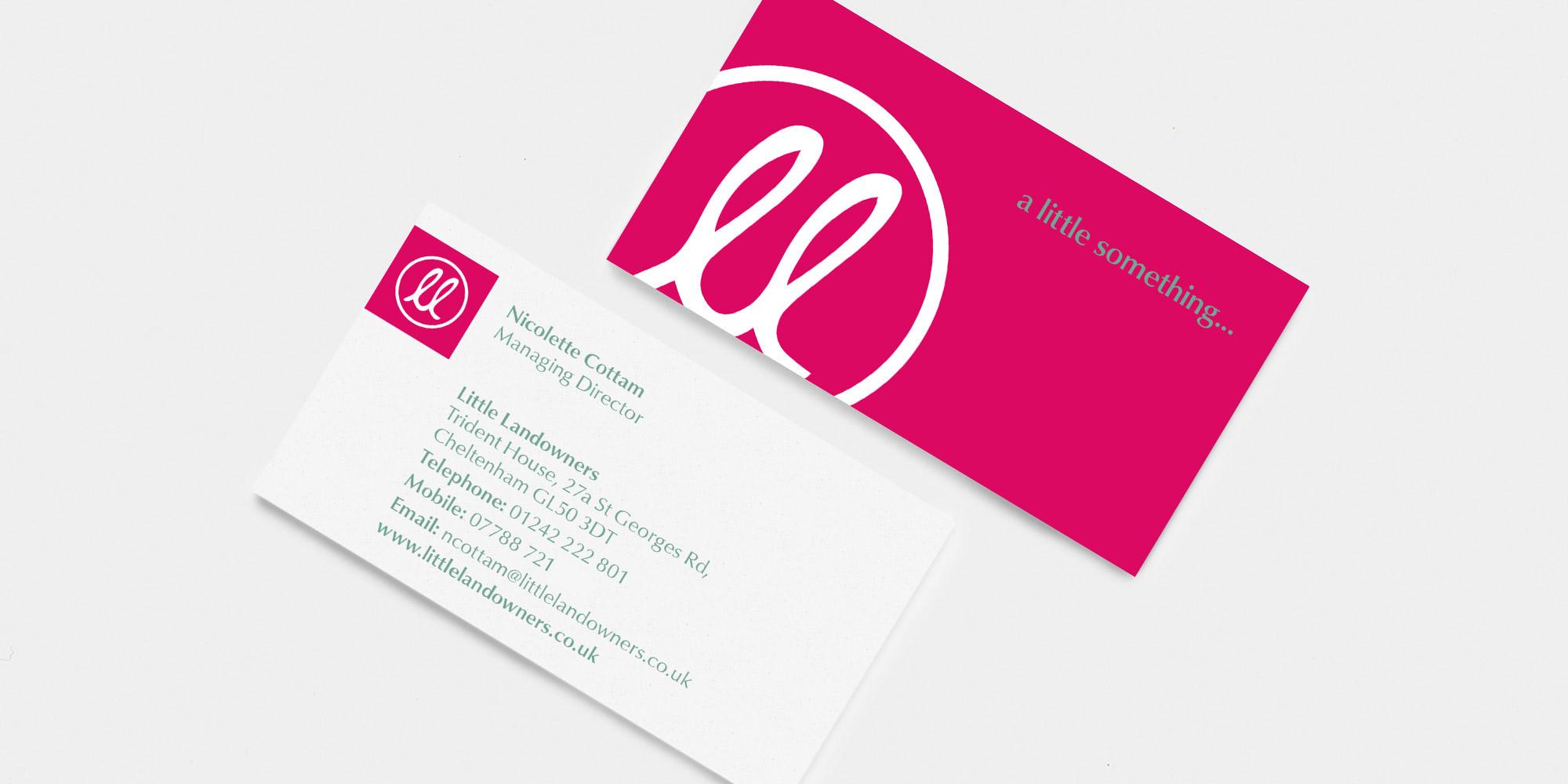 Little Landowners Business Card Design