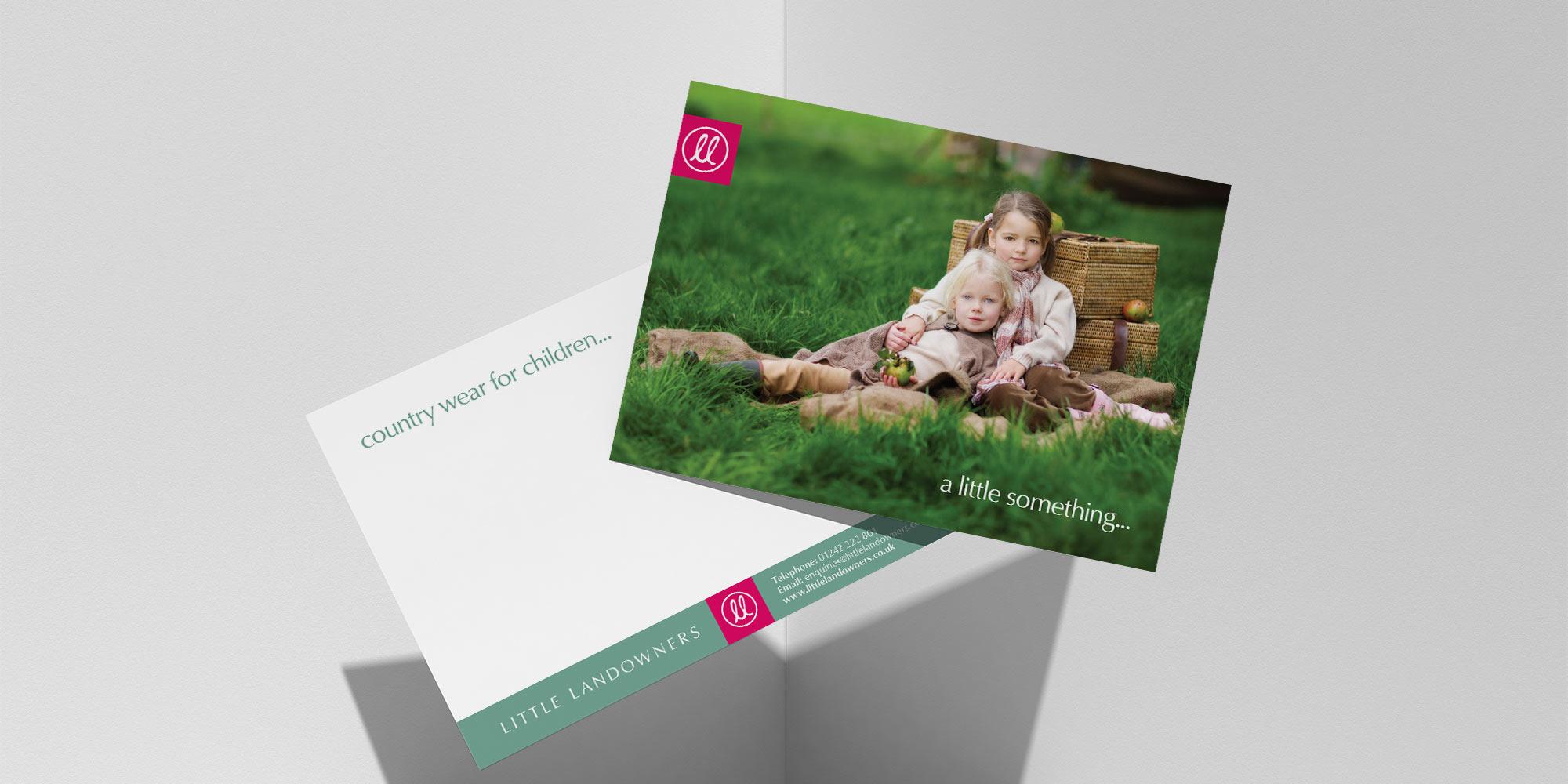 Little Landowners Postcard Design