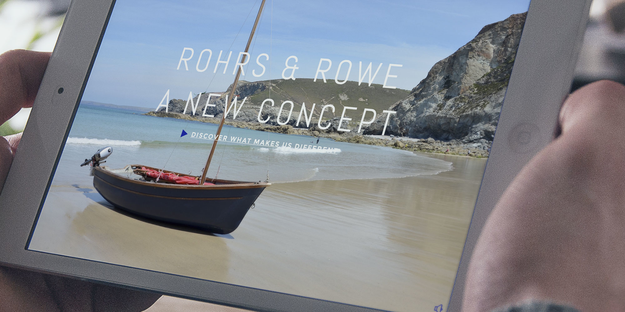 Rohrs & Rowe Logo Design on Tablet