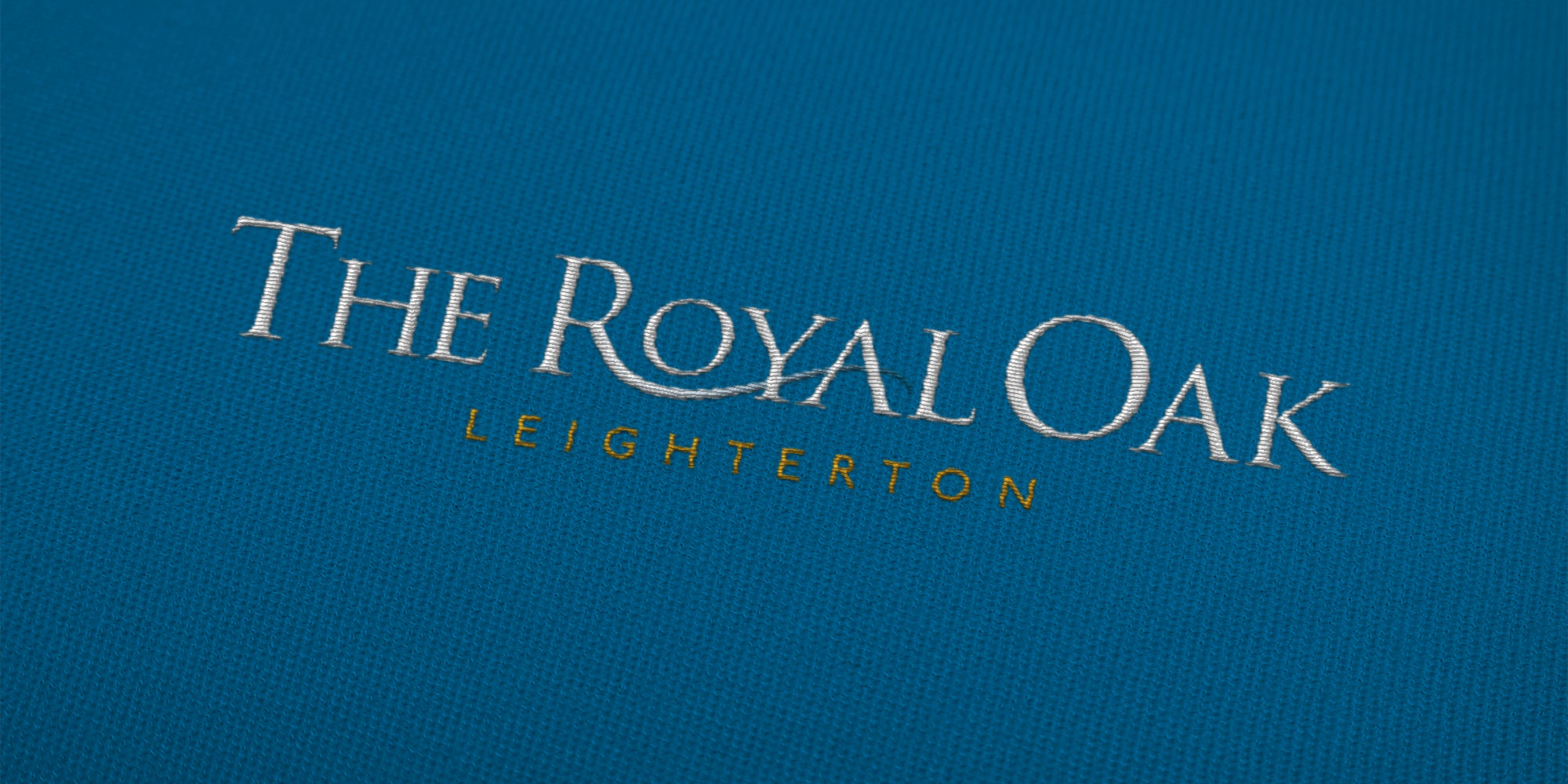 The Royal Oak Embroidered Logo Design