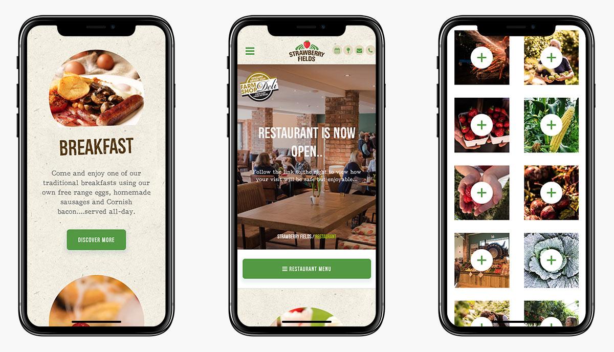 Strawberry Fields Wordpress Website Design on Mobile Devices