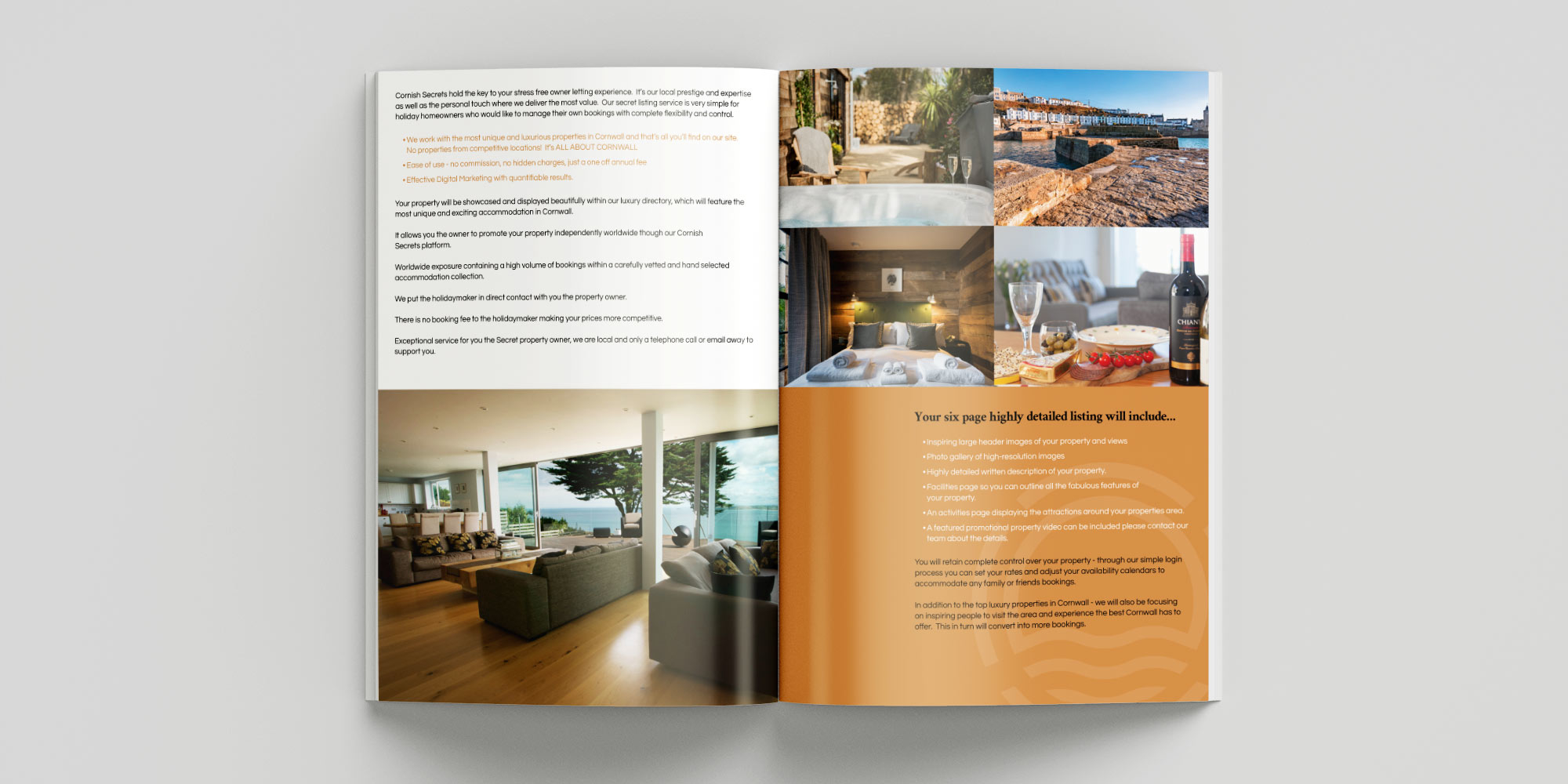 Cornish Secrets Brochure Design