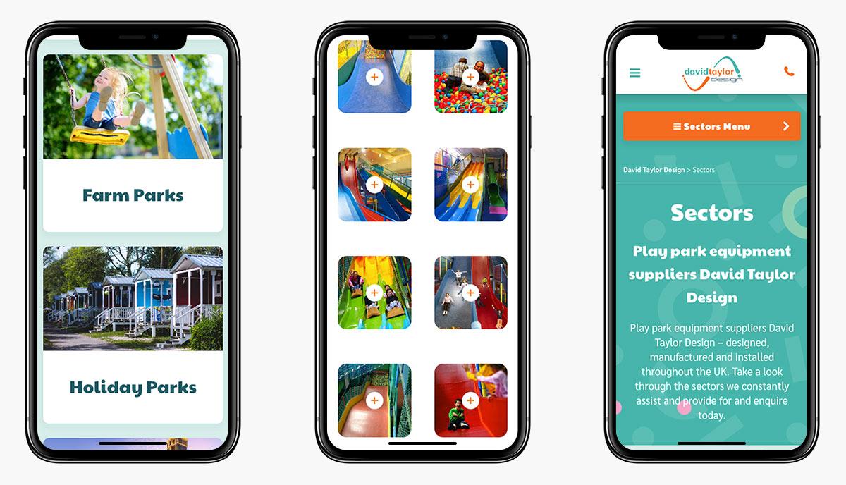 David Taylor Design Wordpress Website Design on Mobile Devices