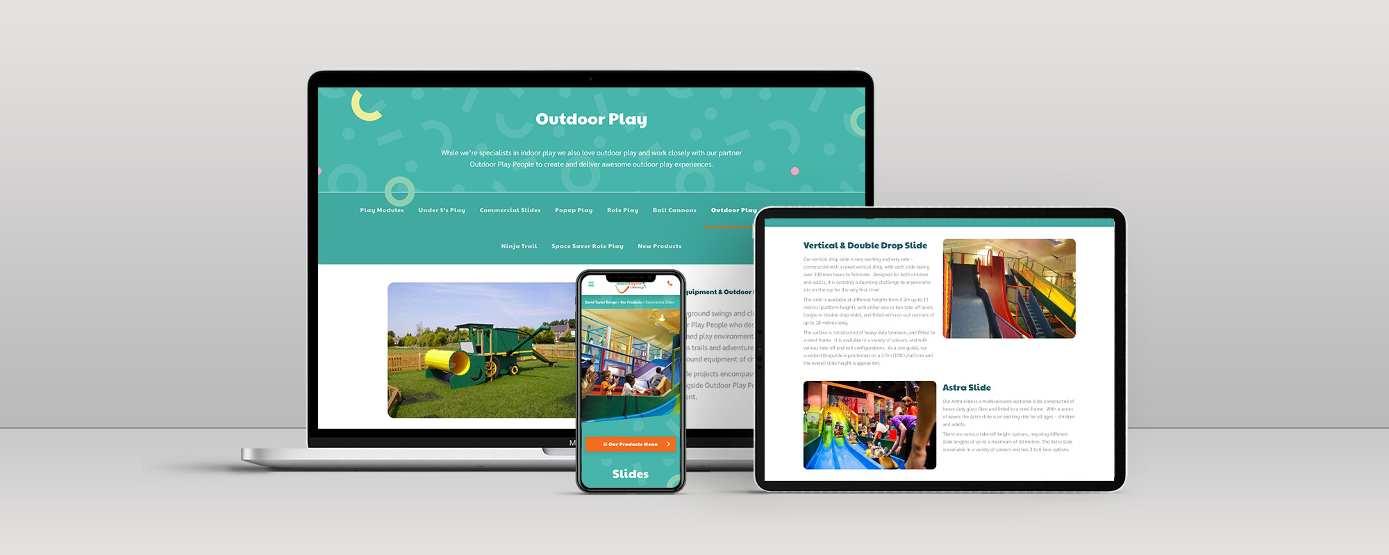 David Taylor Design Wordpress Website Design on 3 Devices