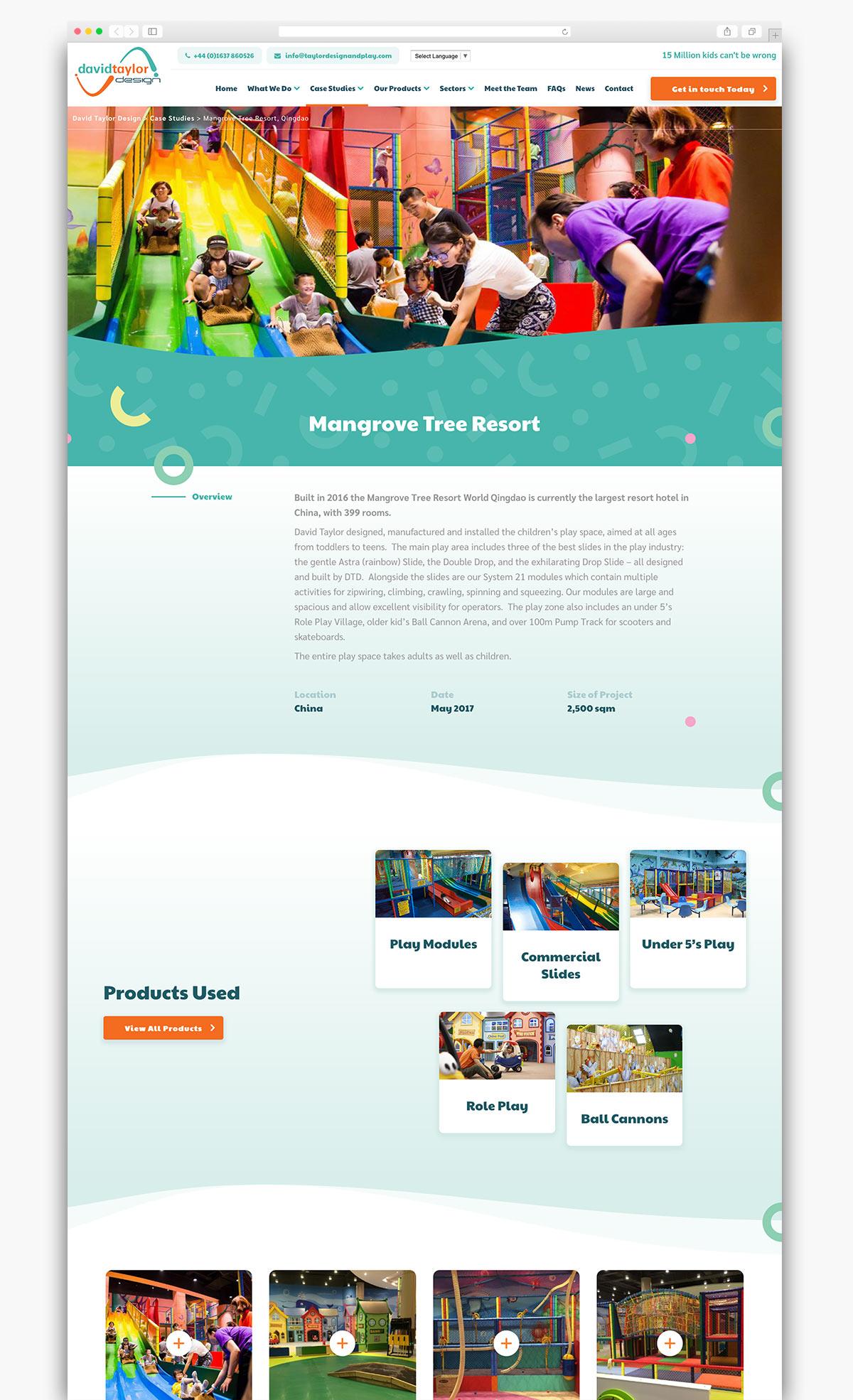 David Taylor Design Wordpress Website Page Design