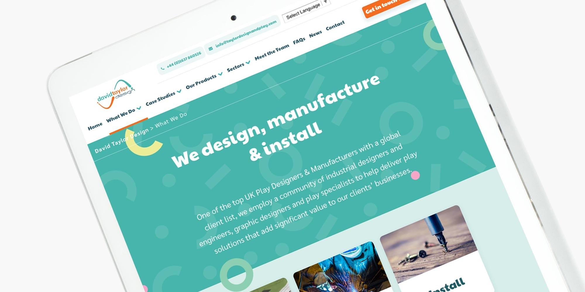David Taylor Design Wordpress Website Design on Tablet