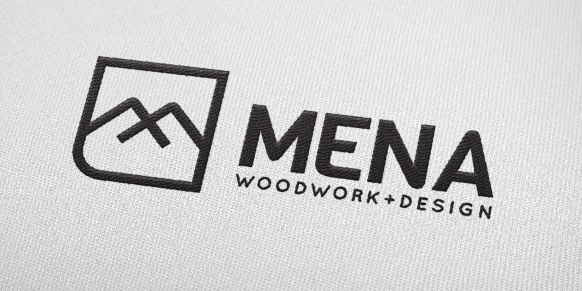 Mena Woodwork Logo Design on a Tshirt