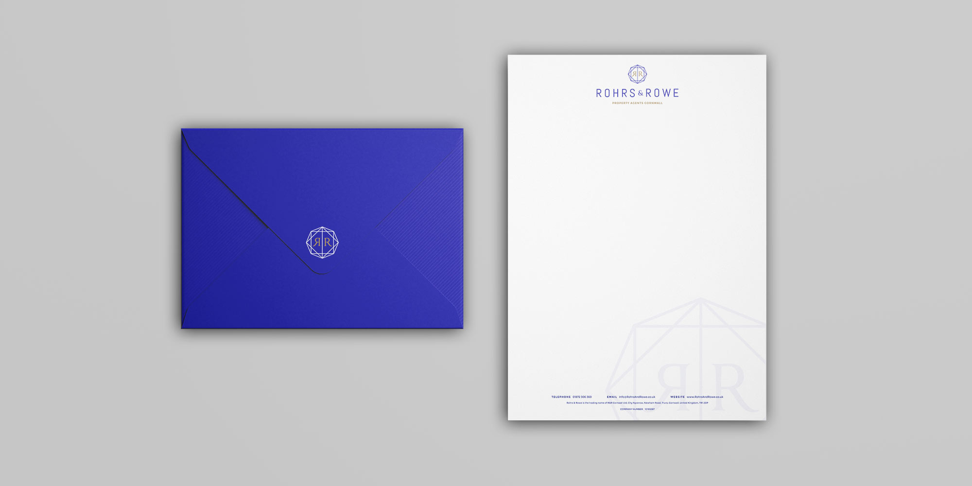 Rohrs & Rowe Stationery Design
